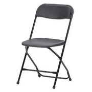 Zown Classic Collection Folding Resin Chair Black (60540BLK8E)