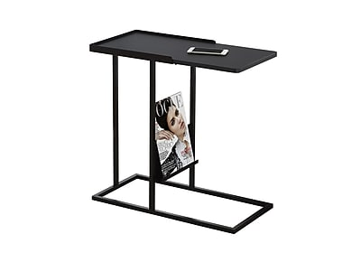 Monarch Specialties Metal Accent Table, Black, Each (I 3097)