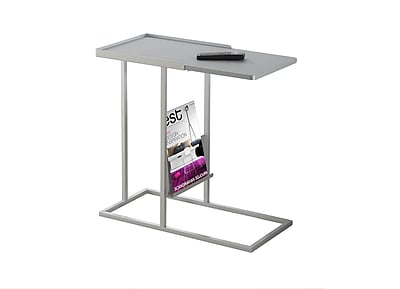 Monarch Specialties Metal Accent Table, Gray, Each (I 3099)