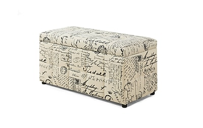 Monarch Specialties Vintage French Fabric Ottoman ( I 8986 )