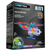 Laser Pegs® Lighted Power Blocks Helicopter, Multicolor (G1270B)
