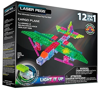 Laser Pegs® Lighted Power Blocks Cargo Plane, Multicolor (G1670B)