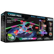 Laser Pegs® Lighted Power Blocks Super Copter, Multicolor (G2100B)