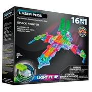 Laser Pegs® Lighted Power Blocks Space Fighter, Multicolor (G9030B)