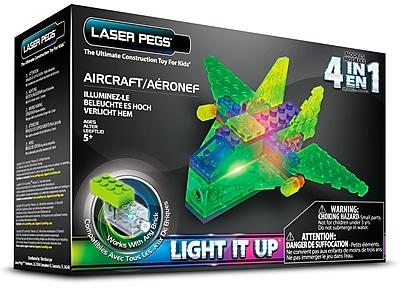 Laser Pegs® Lighted Power Blocks Aircraft, Multicolor (MPS100B)