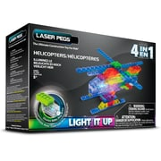 Laser Pegs® Lighted Power Blocks Helicopters, Multicolor (MPS400B)
