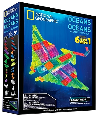 Laser Pegs® Lighted Power Blocks, Nat Geo Space, Multicolor (NG400)