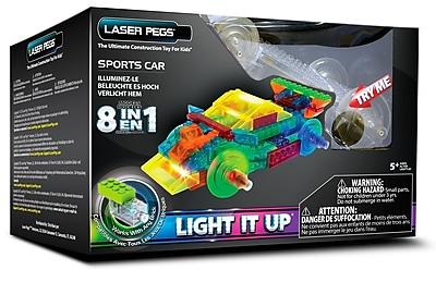 Laser Pegs® Lighted Power Blocks Sports Car, Multicolor (PB1410B)