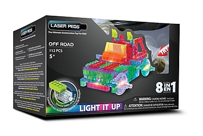 Laser Pegs® Lighted Power Blocks Off Road, Multicolor (PB1440B)