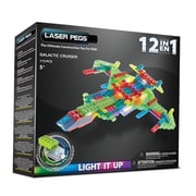 Laser Pegs® Lighted Power Blocks Galactic Cruiser, Multicolor (PB1450B)