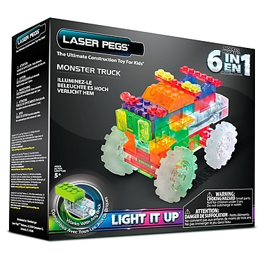 Laser Pegs® Lighted Power Blocks Monster Truck, Multicolor (ZD110B)