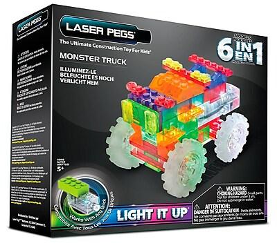 Laser Pegs® Lighted Power Blocks Monster Truck, Multicolor (ZD110B)