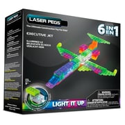 Laser Pegs® Lighted Power Blocks Executive Jet, Multicolor (ZD140B)