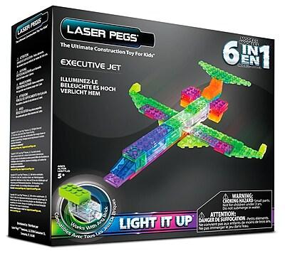 Laser Pegs® Lighted Power Blocks Executive Jet, Multicolor (ZD140B)