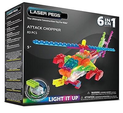 Laser Pegs® Lighted Power Blocks Attack Chopper, Multicolor (ZD150B)