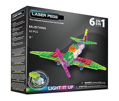 Laser Pegs® Lighted Power Blocks Mustang Fighter, Multicolor (ZD160B)