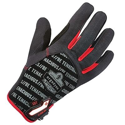 Ergodyne 812CR Utility + Cut Resistance Glove, Black, XL, Pair (17185)