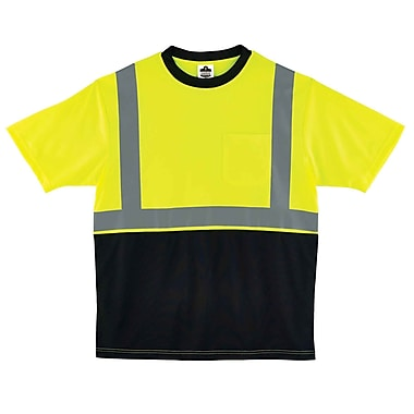 Ergodyne GloWear 8289BK Class 2 T-Shirt, Lime, XL (22515)