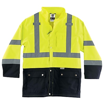 Ergodyne GloWear 8365BK Rain Jacket 5XL Lime (25329)