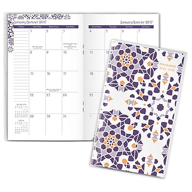 AT-A-GLANCE® Abby 2-Year Monthly Pocket Planner, Bilingual