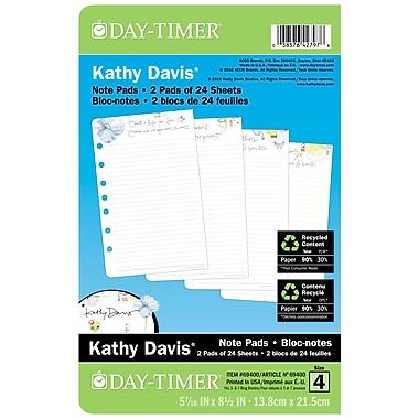 Day-Timer® - Sous-main de bureau à motif Kathy Davis, recharges, bilingue