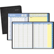 "AT-A-GLANCE® 2018 Quicknotes® Recycled Weekly/Monthly Appointment Book, 10-7/8"" x 8-1/4"", Black, Bilingual"