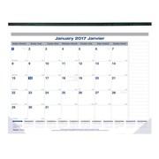 Blueline® – Calendrier sous-mains mensuel Net Zero Carbon™ 2017, 22 po x 17 po, bilingue