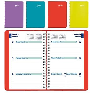 Blueline® – Agenda hebdomadaire 2017, 8 po x 5 po, couleurs variées, bilingue