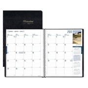 Brownline® – Agenda mensuel de la collection internationale 2017, 11 po x 8 1/2 po, noir, trilingue