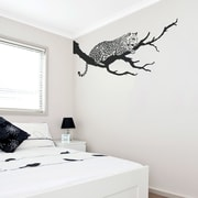 Wallums Wall Decor Jaguar On Branch Wall Decal; Pink