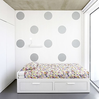 Wallums Wall Decor Giant Polka Dots Wall Decal; Red