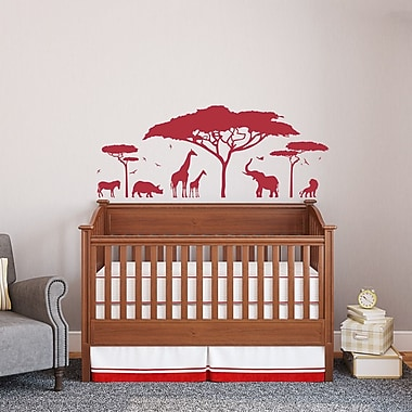 Wallums Wall Decor African Safari Wall Decal; Violet