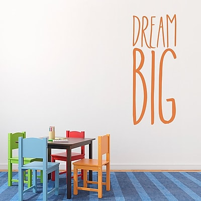 Wallums Wall Decor Dream Big Wall Decal; Chocolate Brown