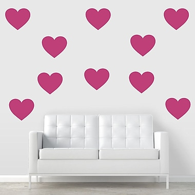Wallums Wall Decor Giant Hearts Wall Decal; Dark Red
