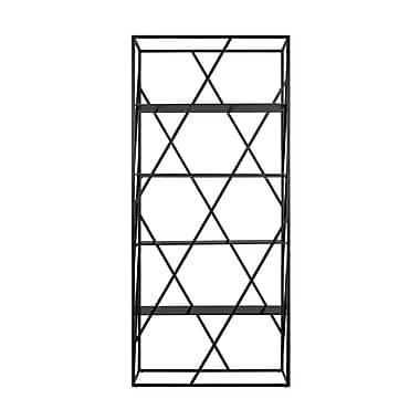 Creative Furniture Electra Divider 71'' Etagere Bookcase; Black