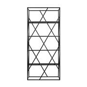 Creative Furniture Electra Divider Etagere Bookcase; Black