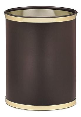Kraftware Sophisticates 3.25 Gallon Waste Basket; Polish