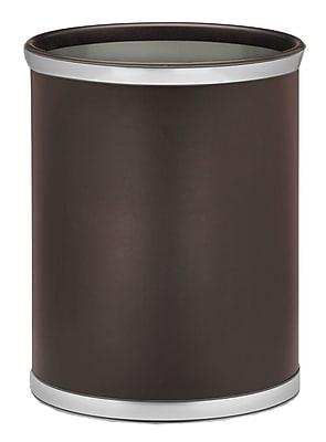 Kraftware Sophisticates 3.25 Gallon Waste Basket; Brush