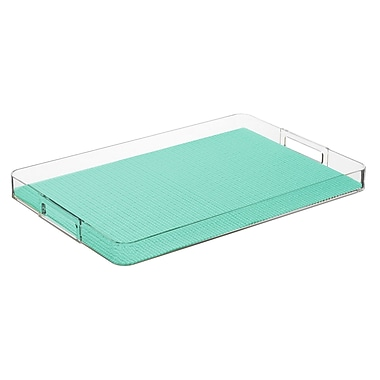 Kraftware Fishnet Rectangular Serving Tray; Limpet Shell