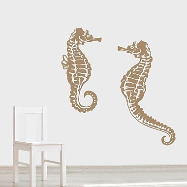 Wallums Wall Decor Seahorse Wall Decal; Dark Gray
