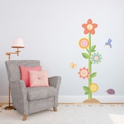 Wallums Wall Decor Flower Growth Chart Printed Wall Decal