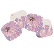 The Designs of Distinction 4 Piece Floral Watercolor Indoor Outdoor Coaster Set