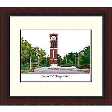 Campus Images NCAA Louisiana Tech University Legacy Alumnus Framed Lithogrpah