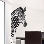 Wallums Wall Decor Zebra Head Printed Wall Decal