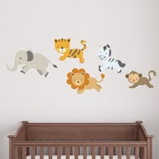 Wallums Wall Decor Safari Pattern Animals Printed Wall Decal