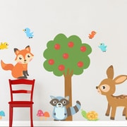Wallums Wall Decor Woodland Friends Printed Wall Decal