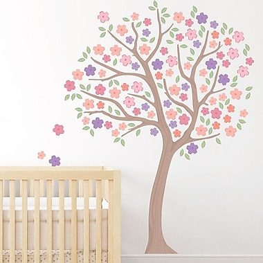 Wallums Wall Decor Spring Cherry Blossom Tree Printed Wall Decal