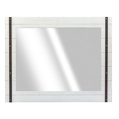 Prinz Cooper Wall Mirror; White