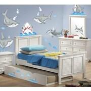 Borders Unlimited 57 Piece Fish'n Sharks Super Jumbo Appliqu  Wall Deca Set
