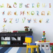 Borders Unlimited 129 Piece Alphabet Animals A-Z Super Jumbo Appliqu  Wall Decal Set